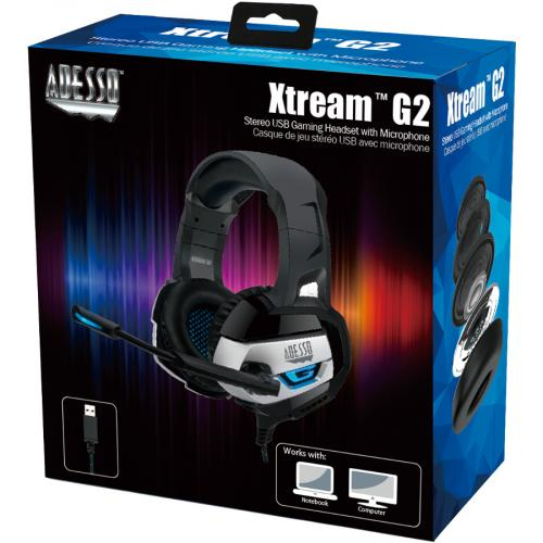 Adesso Stereo USB Gaming Headset With Microphone Alternate-Image5/500