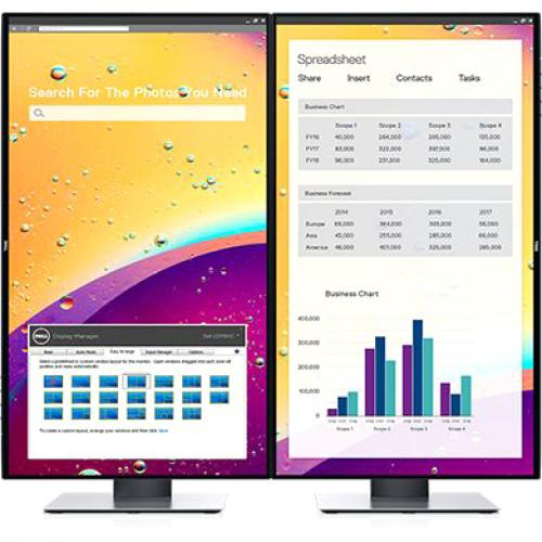 """Dell UltraSharp 24"""" Monitor     1920 X 1080 Full HD Display   60Hz Refresh Rate   In Plane Switching Technology   5 Ms Response Time   Flicker Free Screen W/ ComfortView Alternate-Image5/500"""