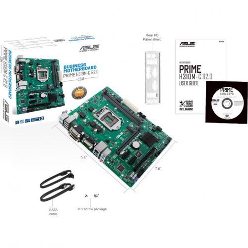Asus Prime H310M C R2.0/CSM Desktop Motherboard   Intel Chipset   Socket H4 LGA 1151 Alternate-Image5/500