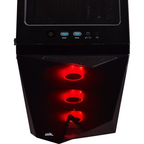 Corsair Carbide Series SPEC DELTA RGB Tempered Glass Mid Tower ATX Gaming Case   Black Alternate-Image5/500