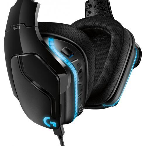 Logitech G635 7.1 Lightsync Gaming Headset Alternate-Image5/500