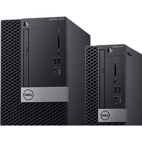 Dell OptiPlex 5000 5070 Desktop Computer   Intel Core I7 9th Gen I7 9700 3 GHz   8 GB RAM DDR4 SDRAM   500 GB HDD   Small Form Factor Alternate-Image5/500