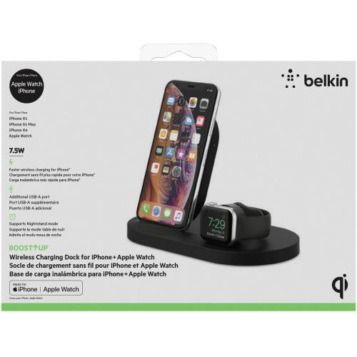 Belkin BOOST↑UP Wireless Charging Dock For IPhone + Apple Watch + USB A Port Alternate-Image5/500