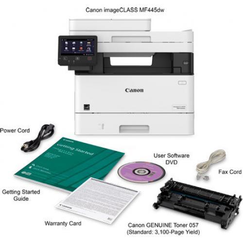 Canon ImageCLASS MF445dw Laser Multifunction Printer   Monochrome Alternate-Image5/500
