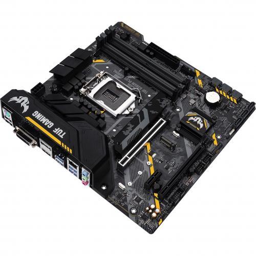 TUF B365M PLUS GAMING Desktop Motherboard   Intel Chipset   Socket H4 LGA 1151   Intel Optane Memory Ready   Micro ATX Alternate-Image5/500