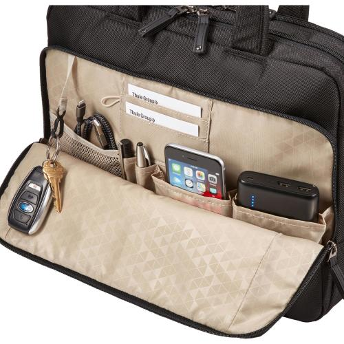 """Case Logic Carrying Case (Briefcase) For 14"""" Notebook, Tablet PC, Portable Electronics, Accessories   Black Alternate-Image5/500"""