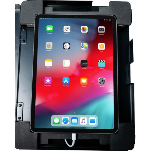 CTA Digital Premium Height Adjustable Floor To Desk Security Kiosk For Tablets Alternate-Image5/500
