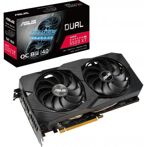Asus Dual DUAL RX5500XT O8G EVO Radeon RX 5500 XT Graphic Card   8 GB GDDR6 Alternate-Image5/500