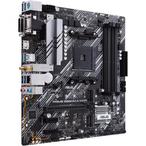 Asus Prime B550M A (WI FI) Desktop Motherboard   AMD Chipset   Socket AM4   Micro ATX Alternate-Image5/500