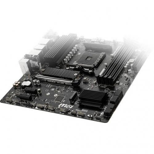 MSI B550M PRO VDH WIFI Desktop Motherboard   AMD Chipset   Socket AM4   Micro ATX Alternate-Image5/500