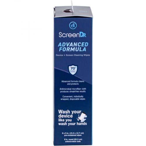 Digital Innovations Screen Dr Advanced Formula (70% Alcohol)Wet Wipes W/ Micofiber Cloth 120 Ct Alternate-Image5/500