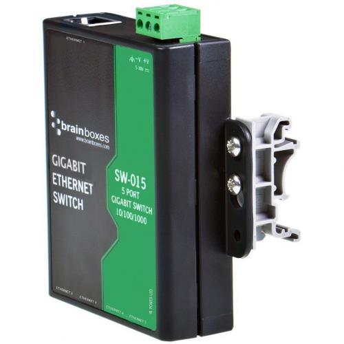 Brainboxes Compact 5 Port Gigabit Ethernet Switch DIN Rail Mountable Alternate-Image5/500
