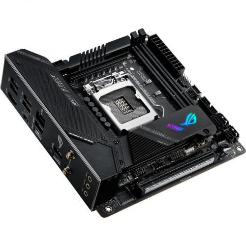 Asus ROG Strix Z590 I GAMING WIFI Desktop Motherboard   Intel Chipset   Socket LGA 1200   Intel Optane Memory Ready   Mini ITX Alternate-Image5/500