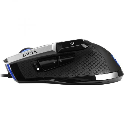 EVGA X17 Wired Customizable Gaming Mouse   USB Cable Interface   16000 Dpi Movement Resolution   10 Total Buttons   5 Customizable On Board Profiles   50 Million Clicks Lifecycle Alternate-Image5/500