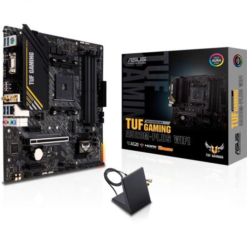 TUF GAMING A520M PLUS WIFI Gaming Desktop Motherboard   AMD Chipset   Socket AM4   Micro ATX Alternate-Image5/500