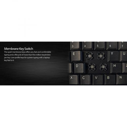 Adesso AKB 410UB Slim Touch Mini Keyboard With Built In Touchpad Alternate-Image6/500