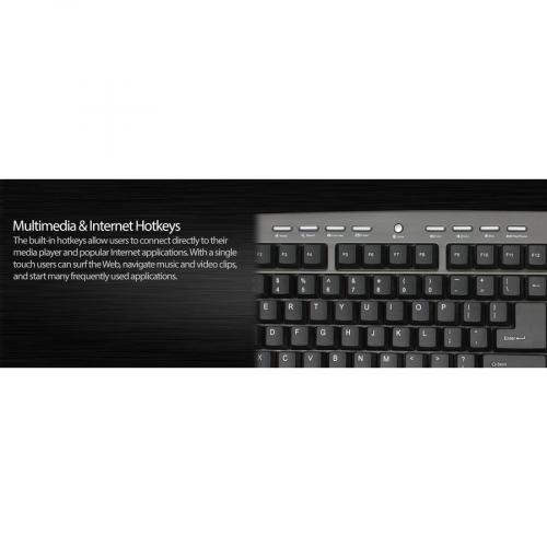 Adesso AKB 430UG Win Touch Pro Desktop Keyboard With Glidepoint Touchpad Alternate-Image6/500