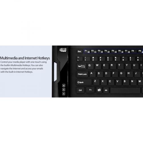 Adesso AKB 212UB   Antimicrobial Waterproof Flex Keyboard (Mini Size) Alternate-Image6/500