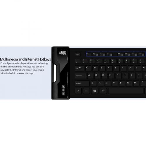 Adesso Antimicrobial Waterproof Flex Keyboard Alternate-Image6/500