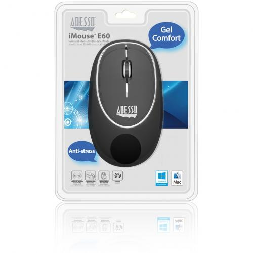 Adesso IMouse E60B   Wireless Anti Stress Gel Mouse Alternate-Image6/500