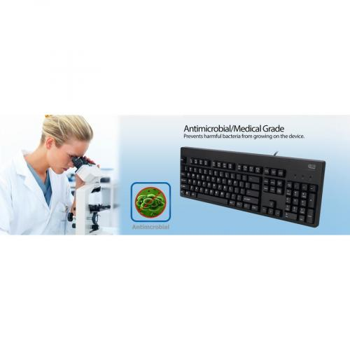 Adesso EasyTouch 630UB   Antimicrobial Waterproof Keyboard Alternate-Image6/500