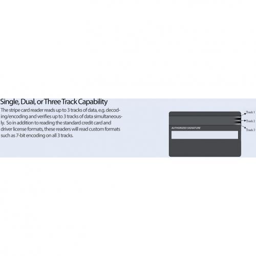 Adesso MSR 100 Magnetic Stripe Card Reader Alternate-Image6/500
