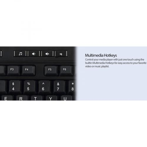 Adesso AKB 132HB  Multimedia Desktop Keyboard With 3 Port USB Hub Alternate-Image6/500