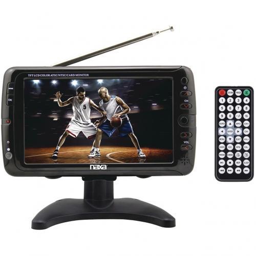 """Naxa NT 70 7"""" LCD TV   Shiny Black Alternate-Image6/500"""