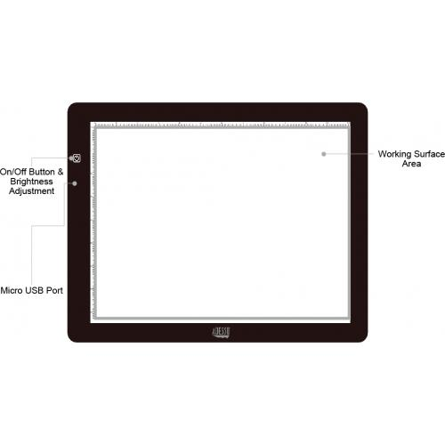 "Adesso CyberPad P1  12"" X 9"" LED Light Tracing Pad Alternate-Image6/500"
