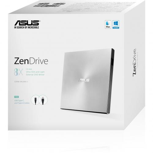Asus ZenDrive SDRW 08U9M U DVD Writer   Silver Alternate-Image6/500
