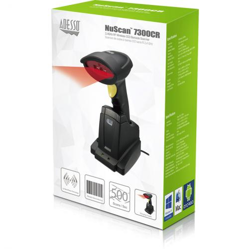 Adesso NuScan 7300CR Adesso 2.4 GHz Wireless CCD Barcode Scanner Alternate-Image6/500