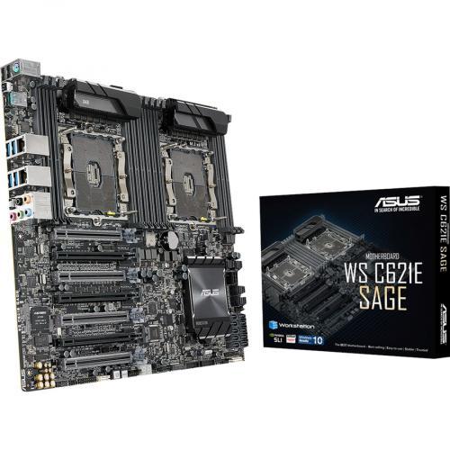 Asus WS C621E SAGE Workstation Motherboard   Intel Chipset   Socket P LGA 3647   SSI EEB Alternate-Image6/500