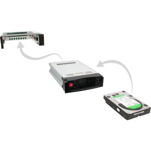 "CRU Data Express DE110 Drive Bay Adapter For 5.25"" Internal   Black Alternate-Image6/500"
