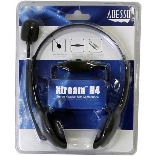Adesso Xtream H4   3.5mm Stereo Headset With Microphone   Noise Cancelling   Wired  6 Ft Cable  Lightweight Alternate-Image6/500