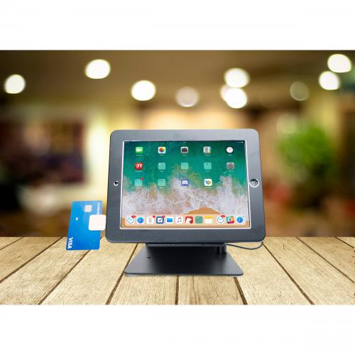 CTA Digital Desktop Anti Theft Stand Ipad Black Case Rotates 360 Degrees Alternate-Image6/500