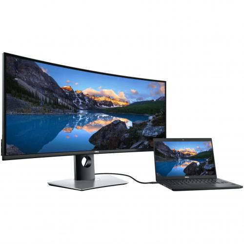 "Dell UltraSharp 34"" Curved Monitor     3440 X 1440 WQHD Display   60 Hz Refresh Rate   In Plane Switching Technology   Picture In Picture Features   Dual 9W Speakers Alternate-Image6/500"
