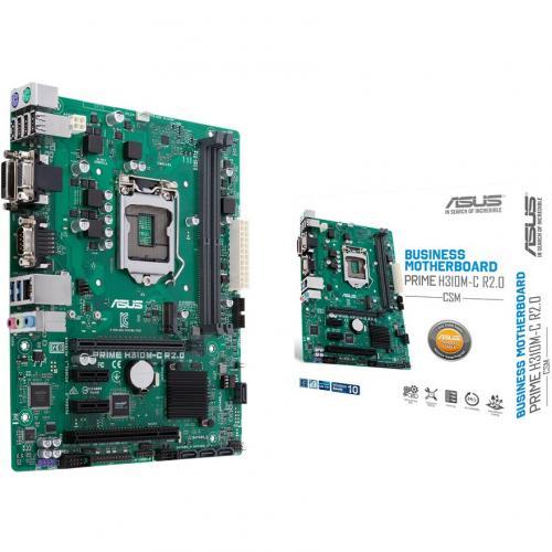 Asus Prime H310M C R2.0/CSM Desktop Motherboard   Intel Chipset   Socket H4 LGA 1151 Alternate-Image6/500