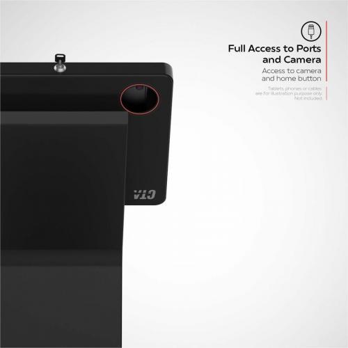 CTA Digital Premium Locking Floor Stand Kiosk Alternate-Image6/500