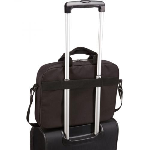 "Case Logic Advantage Carrying Case (Attaché) For 14"" Notebook, Tablet PC, Pen, Portable Electronics, Cord, Cellular Phone, File   Dark Blue Alternate-Image6/500"