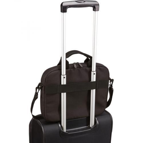 "Case Logic Advantage Carrying Case (Attaché) For 11.6"" Notebook, Tablet PC, Pen, Portable Electronics, Cord, Cellular Phone, File   Black Alternate-Image6/500"