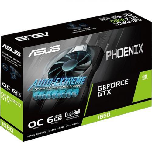 Asus Phoenix PH GTX1660 O6G GeForce GTX 1660 Graphic Card   6 GB GDDR5 Alternate-Image6/500
