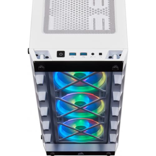 Corsair ICUE 465X RGB Mid Tower ATX Smart Case   White Alternate-Image6/500