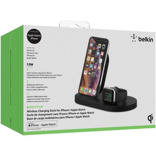 Belkin BOOST↑UP Wireless Charging Dock For IPhone + Apple Watch + USB A Port Alternate-Image6/500