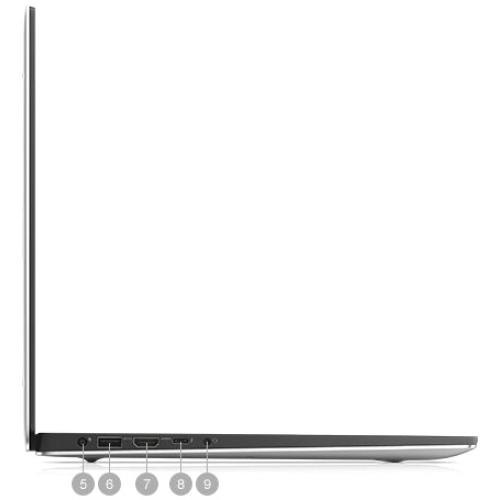 "Dell XPS 15 7590 15.6"" Notebook   1920 X 1080   Intel Core I7 (9th Gen) I7 9750H Hexa Core (6 Core)   16 GB RAM   512 GB SSD   Silver Alternate-Image6/500"