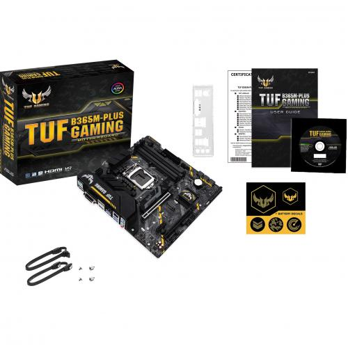 TUF B365M PLUS GAMING Desktop Motherboard   Intel Chipset   Socket H4 LGA 1151   Intel Optane Memory Ready   Micro ATX Alternate-Image6/500
