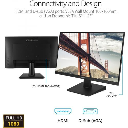 """Asus VA27EHE 27"""" Full HD WLED Gaming LCD Monitor   16:9   Black Alternate-Image6/500"""