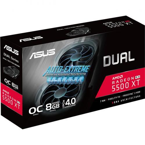 Asus Dual DUAL RX5500XT O8G EVO Radeon RX 5500 XT Graphic Card   8 GB GDDR6 Alternate-Image6/500