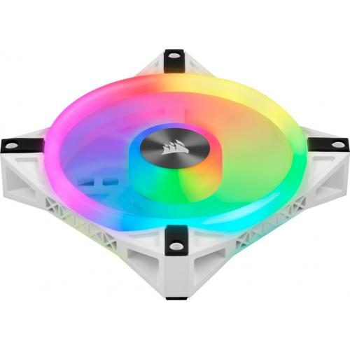 Corsair QL Series, ICUE QL120 RGB, 120mm RGB LED PWM White Fan, Single Fan Alternate-Image6/500