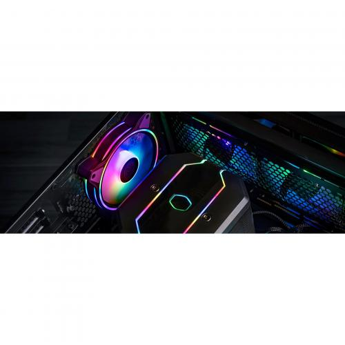 Cooler Master MasterFan MF120 Halo Duo Ring Addressable RGB Lighting 120mm Fan With Independently Controlled LEDs, Absorbing Rubber Pads, PWM Static Pressure For Computer Case & Liquid Radiator Alternate-Image6/500