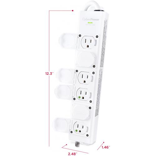 CyberPower MPV615S 6 Outlet Surge Suppressor/Protector Alternate-Image6/500
